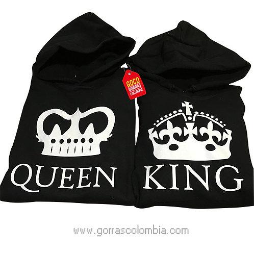 busos negros para pareja king y queen coronas