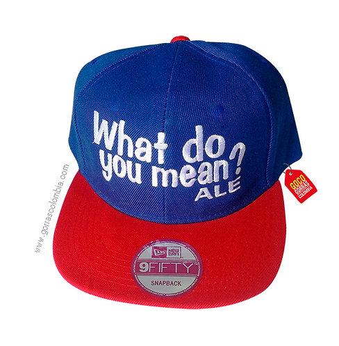 gorra roja frente azul personalizada what do you mean?