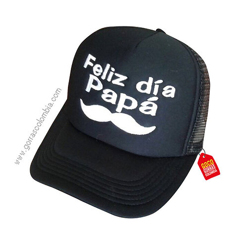 gorra negra unicolor para familia feliz dia papá
