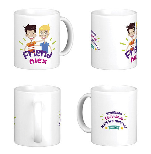 mug blanco personalizado friend