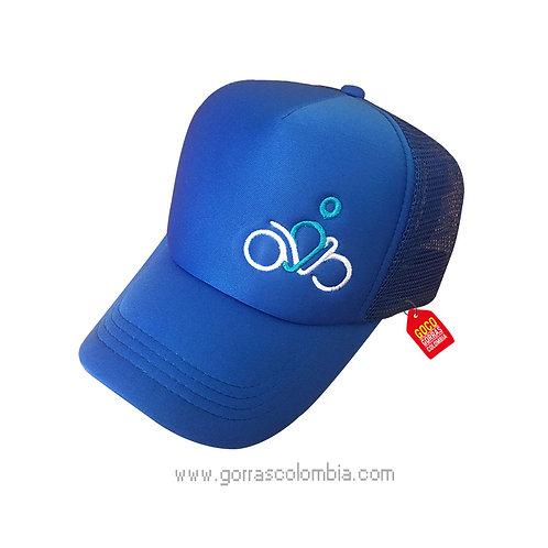 gorra azul unicolor personalizada empresarial logo