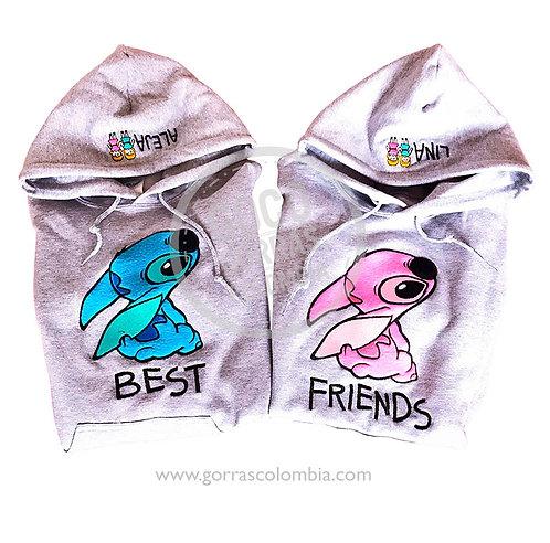 busos grises para amigas best friends stich