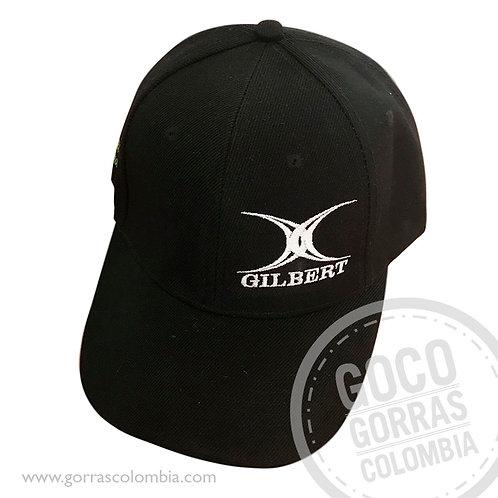 gorra negra unicolor personalizada gilbert