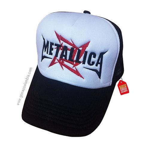 gorra negra frente blanco personalizada metallica