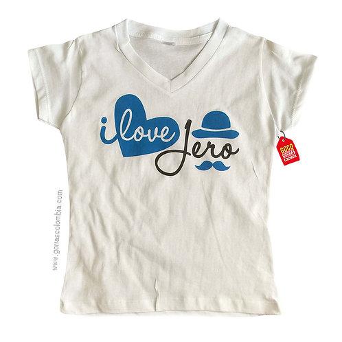 camiseta blanca personalizada i love jero