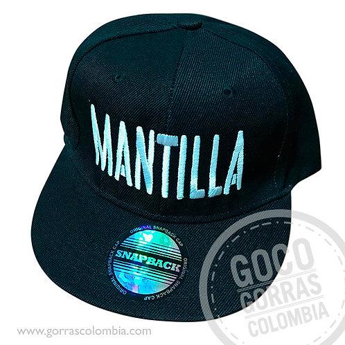 gorra negra unicolor personalizada apellido