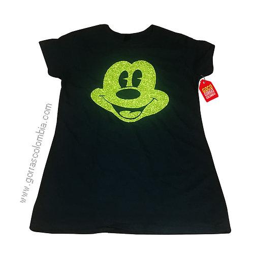 camiseta negra personalizada de mickey