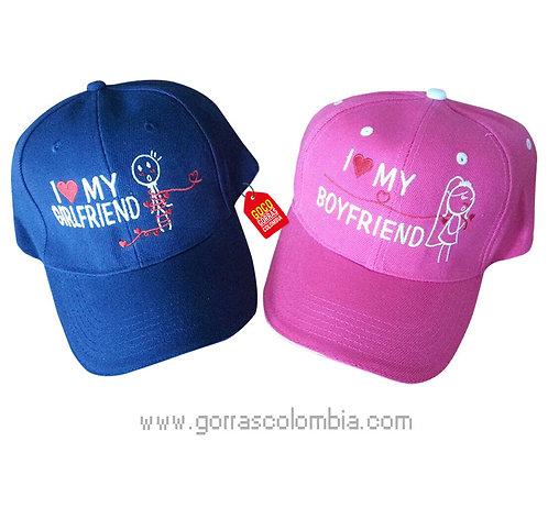 gorras azul y fucsia unicolor para pareja girlfriend y boyfriend