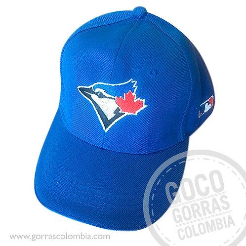 gorra azul unicolor personalizada toronto blue jays beisbol