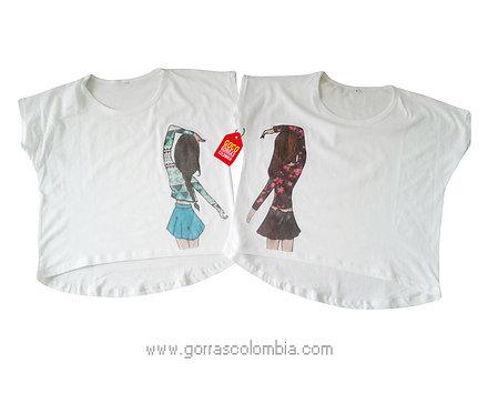 camisetas blancas para amigas
