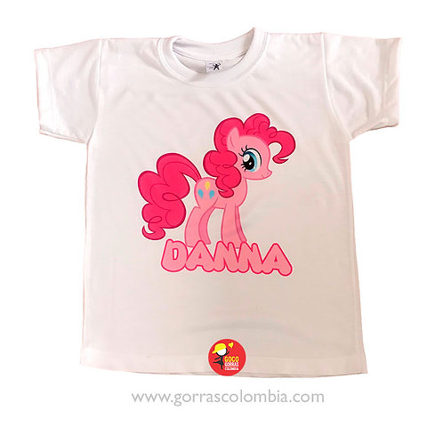 camiseta blanca para niña little pony