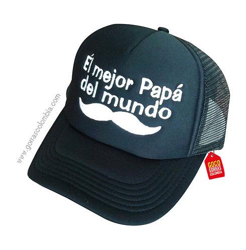 gorra negra unicolor para familia el mejor papá del mundo