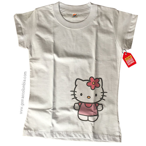 camiseta blanca personalizada hello kitty