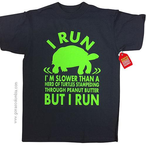 camiseta negra personalizada but i run