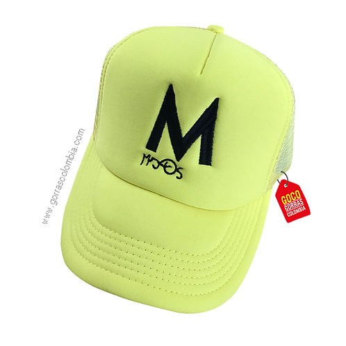 gorra verde unicolor personalizada inicial