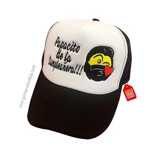 gorra negra frente blanco personalizada emoji barbas