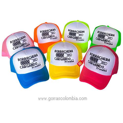 gorras varias frente blanco para fiesta borrachera cargando