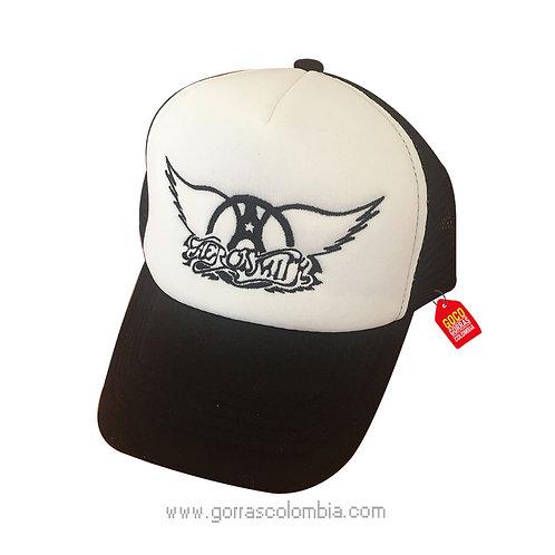 gorra negra frente blanco personalizada aerosmit