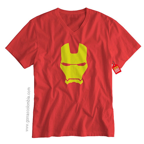 camiseta roja de superheroes ironman