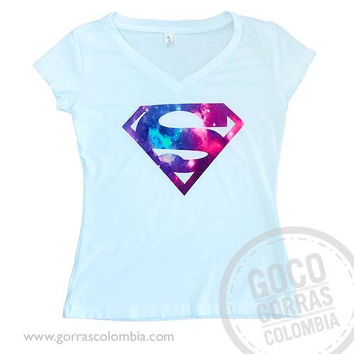 camiseta blanca personalizada superman mujer