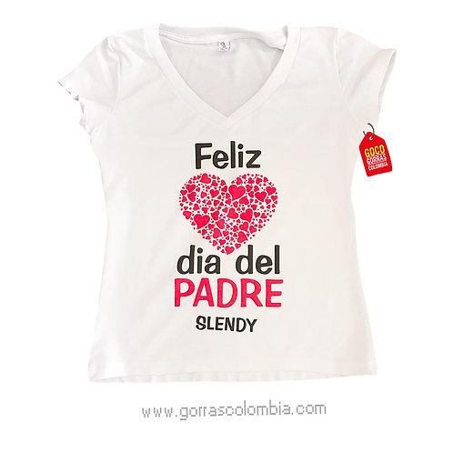 camiseta blanca para familia dia del padre