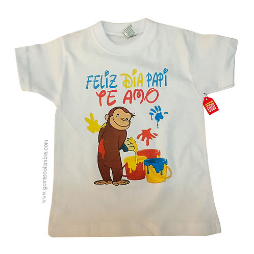 camiseta blanca para niño feliz dia papi