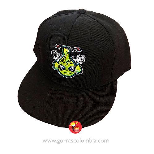 gorra negra unicolor personalizada pez vr46