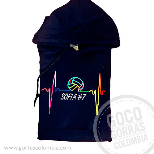 buso negro personalizado voleibol cardio