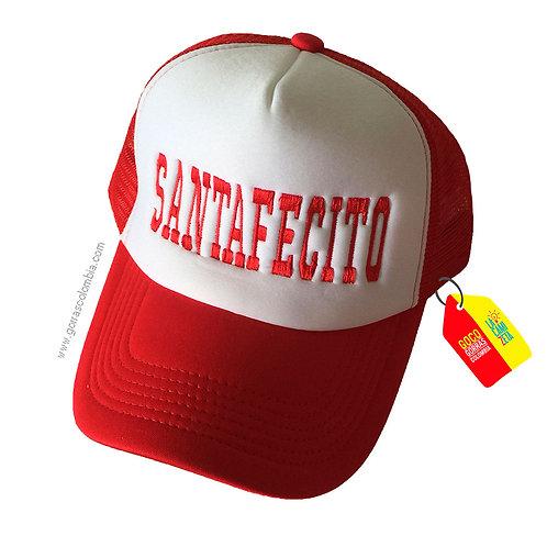 gorra roja frente blanco personalizada santafecito
