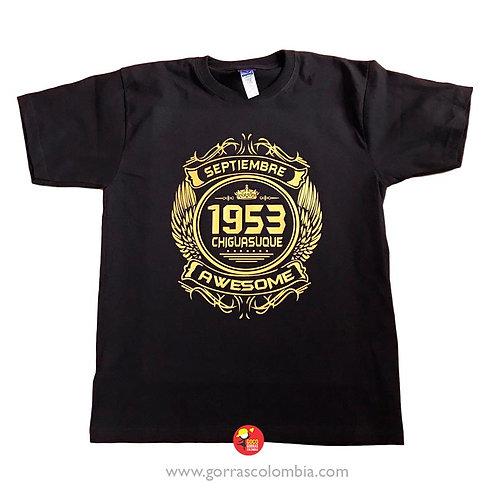 camiseta negra personalizada awesome