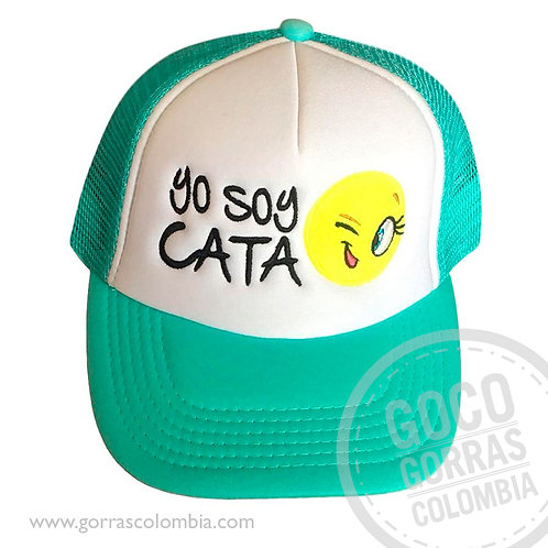 gorra verde frente blanco personalizada emoji guiño