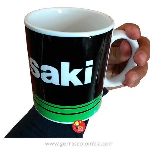 mug blanco personalizado kawasaki
