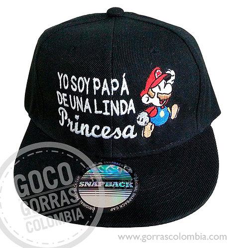gorra negra unicolor personalizada papa de una linda princesa