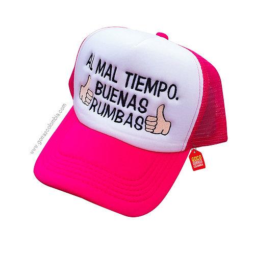 gorra fucsia frente blanco personalizada buenas rumbas