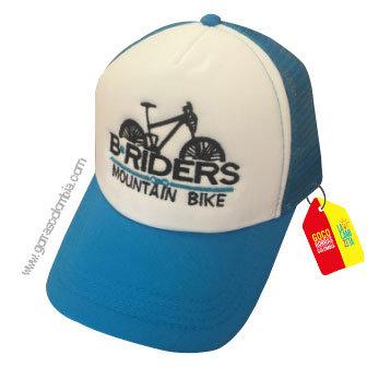 gorra azul frente blanco personalizada briders