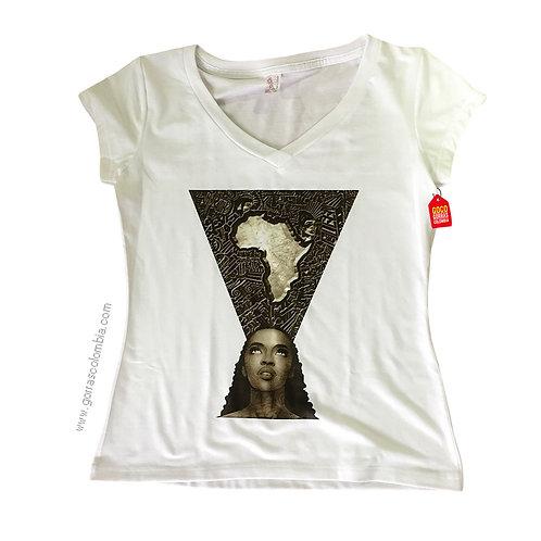 camiseta blanca personalizada africa
