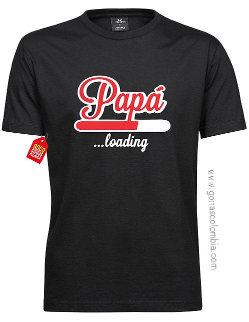 camiseta negra para familia papá loading
