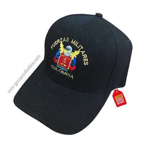 gorra negra unicolor personalizada fuerzas militares
