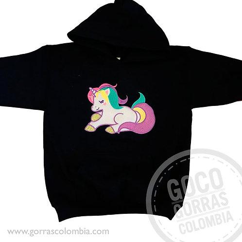 buso negro personalizado unicornio