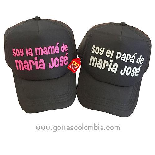 gorras negras unicolor para familia papas de