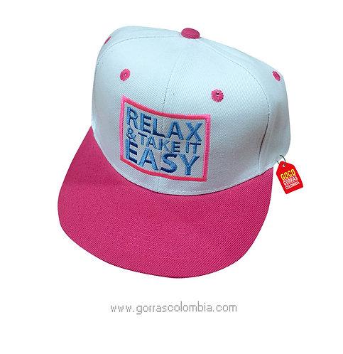 gorra fucsia frente blanco personalizada relax