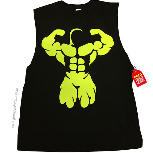 camiseta negra personalizada musculos