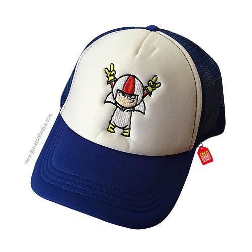 gorra azul frente blanco para niño quin butousqui