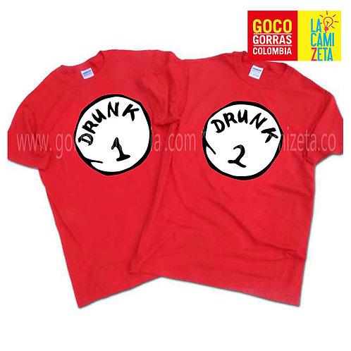 camisetas rojas carnaval de barranquilla drunk uno y dos