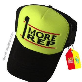 gorra negra frente verde personalizada more rep