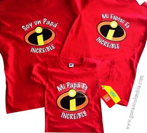camisetas rojas para familia de los increibles