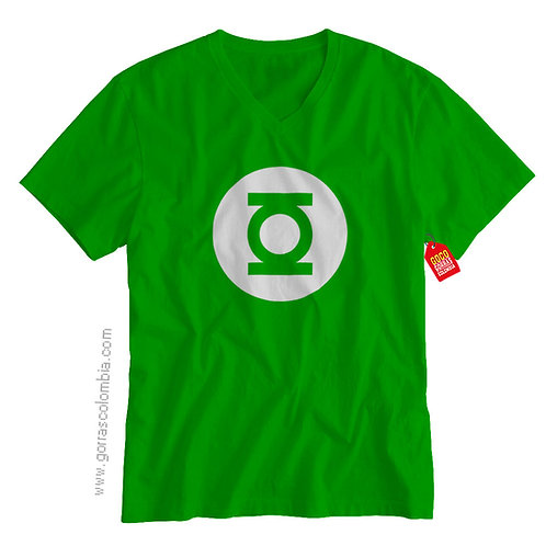 camiseta verde de superheroes linterna verde