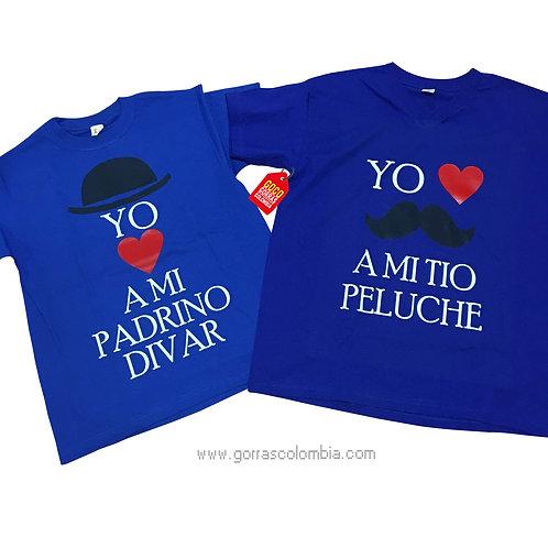 camisetas azules para familia yo amo a mi padrino y tio