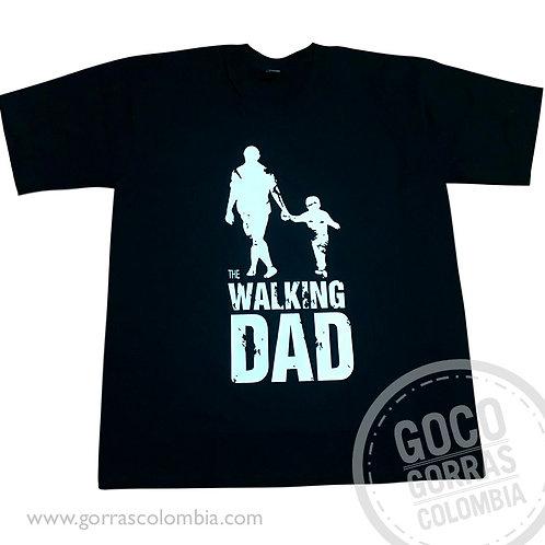 camiseta negra personalizada the walking dad