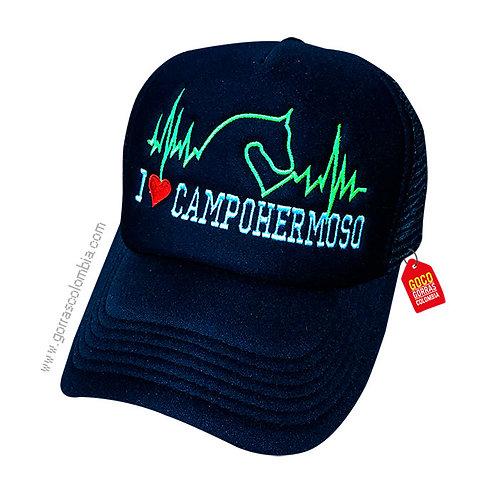 gorra negra unicolor personalizada campohermoso